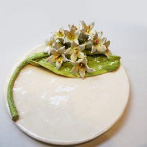 Assiette à dessert Fleurs de Tabac