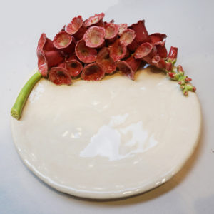 Assiette à dessert Fleurs de Digitale
