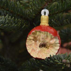 Boule de Noël Pomme à demi-mangée