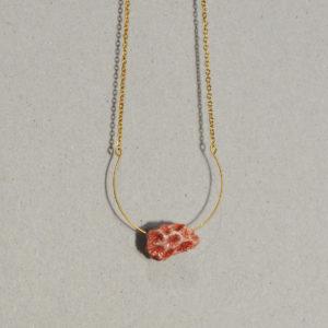 Collier Fragment de Corail rose