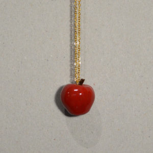 Collier Pomme rouge