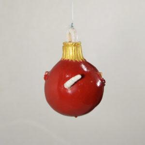 Boule de Noël Pomme verreuse #1