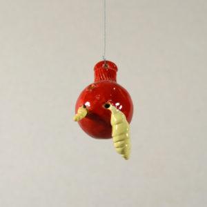 Boule de Noël Pomme verreuse #3