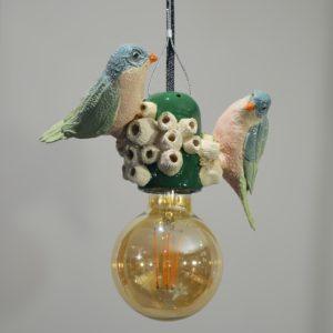 Lampe à suspendre «Comme deux oiseaux dans l'eau» #1